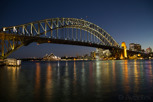 Sydney Harbour Bridge and Opera House from Milsons Point