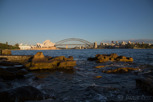 Sydney Opera House and Harbour Bridge as seen from Mrs Macquarie's Chair