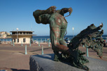 Lifeguard statue at Bondi Beach, Sydney