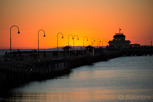 St Kilda pier and pavilion at sunset, Melbourne