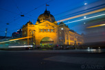 Flinders Street Station at dusk, Melbourne
