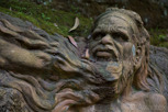 Aborigine statue in William Ricketts Sanctuary, Victoria