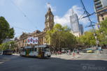 Tram passing by the Town Hall, Melbourne