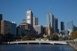 Yarra River and Melbourne skyline, Victoria