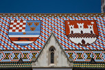 St Marcus Church roof closeup, Zagreb