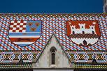 St Marcus Church roof closeup, Zagreb