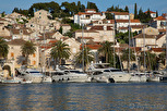 Yachts at the marina of Hvar
