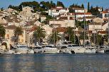 Yachts at the marina of Hvar