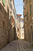 Narrow alley at Stari Grad, Hvar