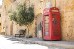 Red telephone box, Gozo