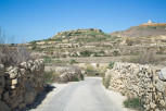 Narrow country road, Gozo
