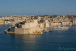 View of the Fort St Angelo, Il-BIrgu