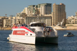 The catamaran link between Valletta and Sliema, Malta