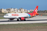 The national carrier Air Malta Airbus A320 at Luqa, Malta International Airport