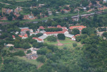 Aerial view of the Victoria Falls Hotel