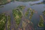 Aerial view of the Victoria Falls delta