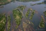 Aerial view of the Victoria Falls delta