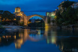 Stari Most at blue hour, Mostar