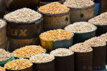 Different grains at the market, Mbabane