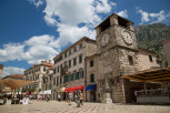 Piazza of the Arms and old stone Clock Tower, Kotor