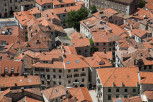 Roof view of old town Kotor