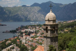 View of Kotor from the hiking trail to St John Fortress