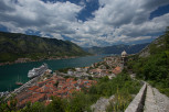 Kotor overview from the hike trail to St John Fortress