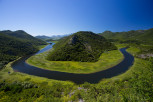 The serpentine Crnojevic river, Lake Skadar National Park