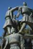Dancing men statue, Podgorica