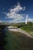 The Millenium Bridge over Moraca river, Podgorica