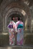 Japanese women by the aqueduct at Nanzen-ji Temple , Kyoto