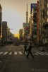 Sunset view of the streets of Tokyo
