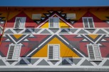 Colorful house facade, Tirana