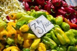 Peppers at the New Bazaar, Tirana