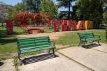 I Love Tirana sign in Rinia-Park