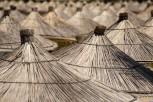 Straw parasols, Sarandë