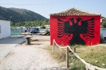 "Nationalistic ""ferry"" terminal at Butrint"
