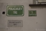 The Pogacarjev trg signs x 3