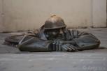 Rubberneck (Čumil) statue, Bratislava