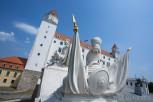 Guarding knights at Bratislava Castle