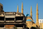 The destroyed Egg and the Mohammad Al-Amin Mosque, Beirut