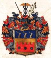 Frisenheims vapen från sköldebervet. Finns på Riddarhuset i Stockholm.