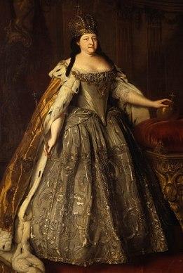 Anna Ivanovna efterträdde Peter II som dog bara 14 år gammal