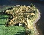 Ruinen av Duveds skans från luften.