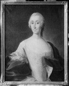Den friherrliga ätten Frisenheim bestod av bara två personer: Johan Henrik själv och hans adoptivdotterdotter Catharina Elisabeth. Den här målningen föreställer henne i vuxen ålder.