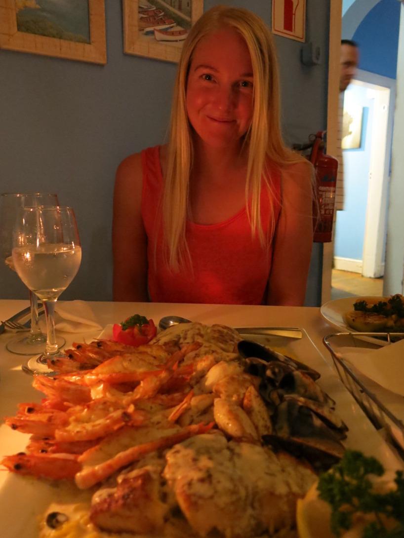 En Seafood platter for 2 med lika mycket mat för en hel familj!
