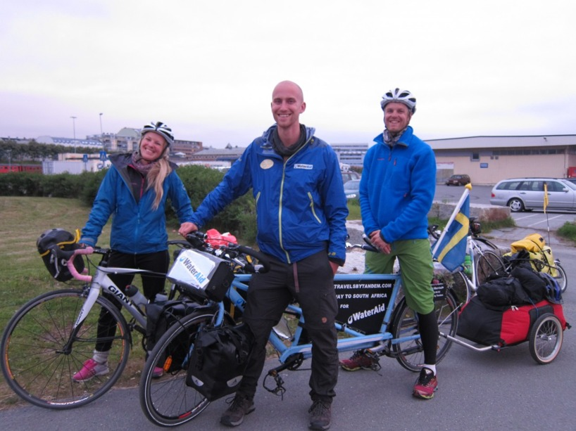 Ett underbart par från Norge som cyklar OTROLIGT fort mellan Nordkap och Södraste Norge!
