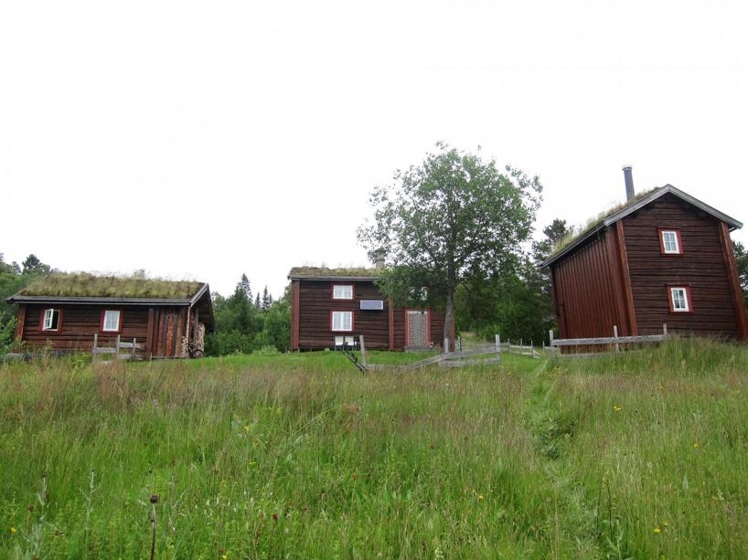 Såhär mysig var deras hytta... efter vårt besök här ville vi blev norrbaggar =)