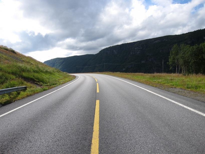 Vägen västerut in mot Möre och Romsdal var väldigt vacker dock trots tungt trampande =)