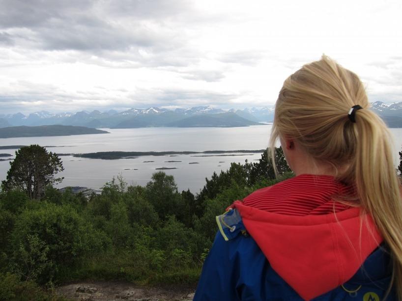 Uppe på Varden i Molde